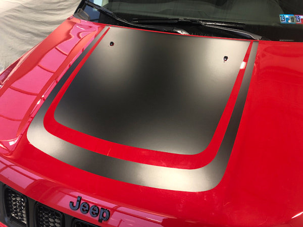2017 - Up Jeep Compass Trailhawk Style Hood Blackout Graphics