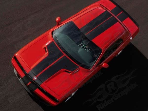 2008 - 2014 Challenger 16 Piece Rally Stripes
