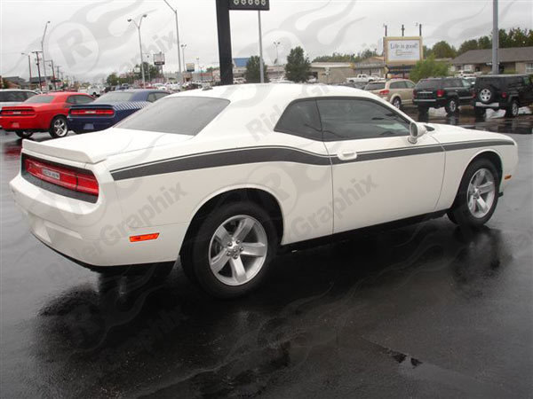 2008 - Up Dodge Challenger Full Upper Accent Side Stripes