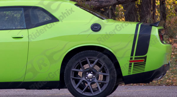 2008 - Up Dodge Challenger Scat Pack Factory Style Tail Stripes