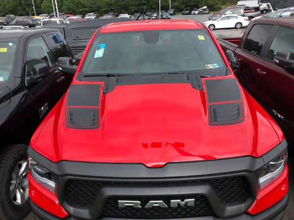 2019 - Up Ram 1500 Rebel / Sport Hood Insert Decal Graphics
