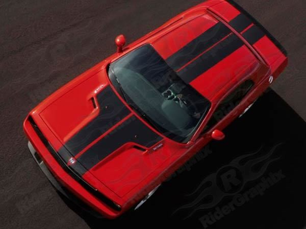 2008 - 2014 Challenger 10 Piece Rally Stripes