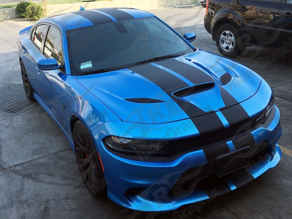 2015 - Up Dodge Charger SRT Hellcat Scat Pack RT GT Factory Style Rally Stripe Kit