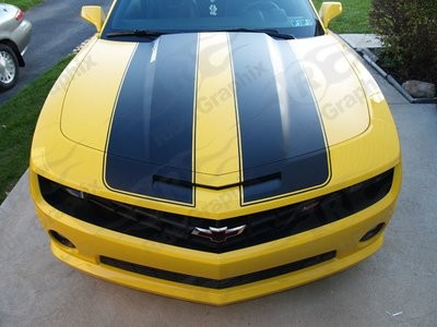 2010 - 2015 Camaro Bumble Bee Style Extended Length Rally Stripe Kit