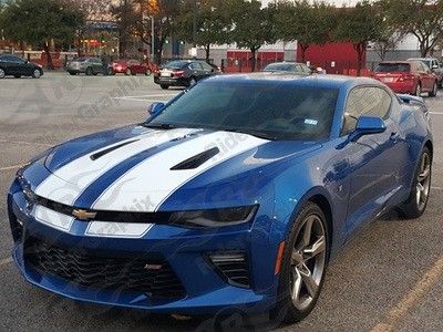 2016 - 2018 Camaro SS Coupe Factory Style Rally Stripes
