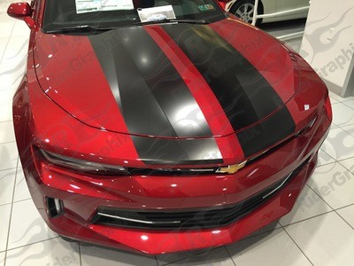 2016 - 2018 Camaro V6 Coupe Factory Style Rally Stripes