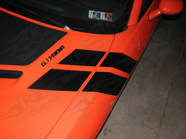2008 - 2014 Dodge Challenger Hood to Fender Stripes