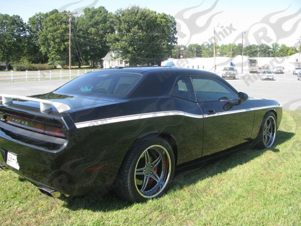 2008 - Up Dodge Challenger Upper Pinstripe Accent Side Stripes