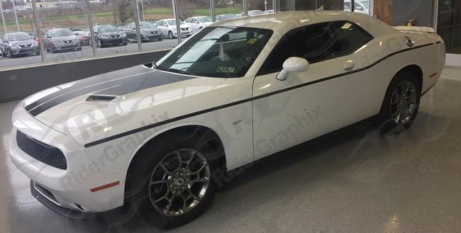 2008 - Up Dodge Challenger Thin Lower Beltline Bodyline Accent Side Stripes