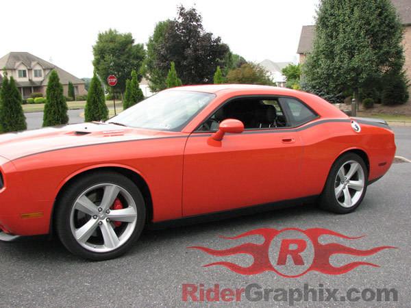 2008 - Up Dodge Challenger Pinstripe Upper Bodyline Stripe Kit