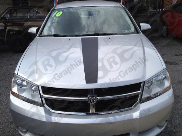 2008 - 2014 Dodge Avenger Center Hood Accent Stripe Kits