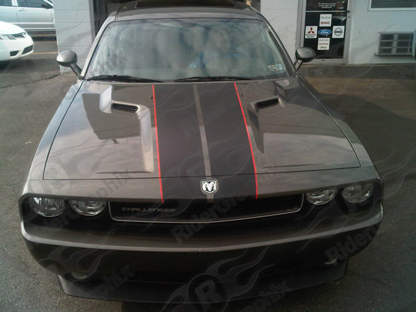 2008 - 2019 Dodge Challenger Rallye Edition Style Stripe Kit