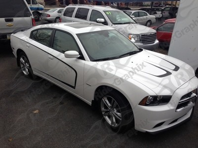 2011 -2014 Dodge Charger Extended Side Scallop Graphics