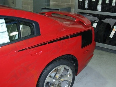 2011 - 2014 Dodge Charger Hockey Style Quarter Panel Stripe Kit
