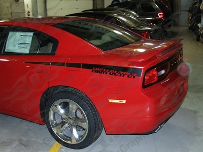 2011 - 2014 Dodge Charger Over Under Style Rear QP Decals