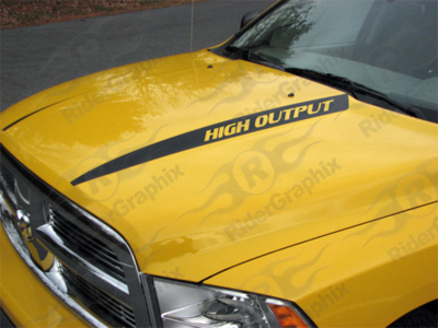 2009 - 2019 Ram 1500 Standard Hood Spear Stripes