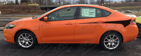 2013 - 2016 Dodge Dart Rear Hockey Style Stripe Kit