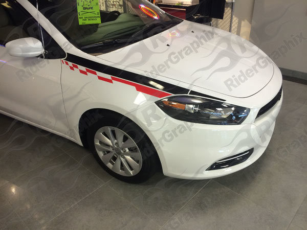 2013 - 2016 Dodge Dart Front Fender Accent Stripe Kit