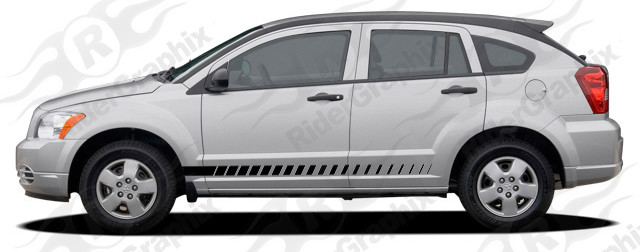 2007 - 2012 Dodge Caliber Rocker Panel Stripe Kits