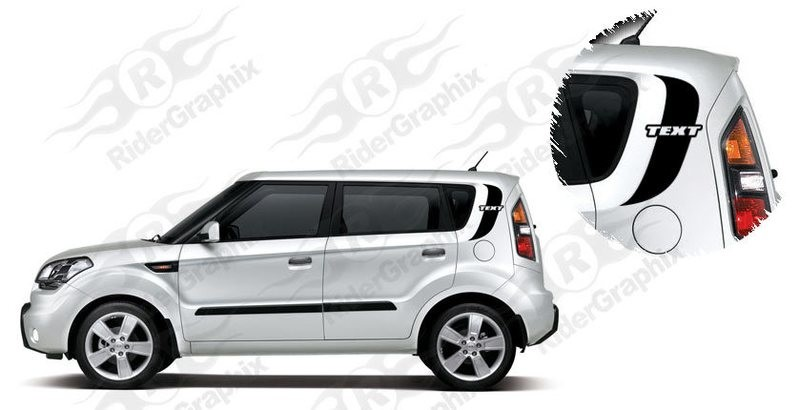 2009-2013 Kia Soul Side Accent Decal Kit