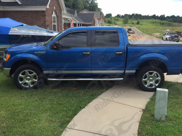2009 & Up Ford F150 Rocker Panel Stripes