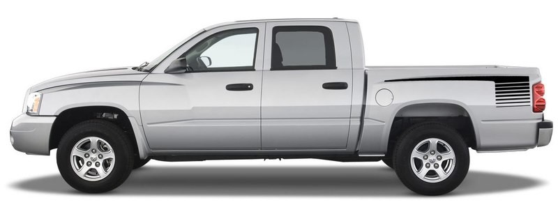 1997 - 2011 Dodge Dakota Retro Hockey Bed Stripes
