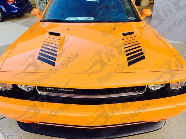 2008 - 2014 Dodge Challenger Hood Vent Decal kit