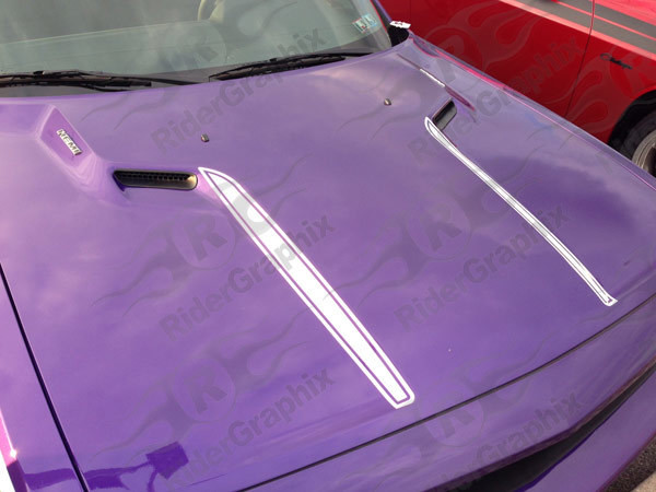 2008 - 2014 Dodge Challenger Hood Spear Vinyl Graphics