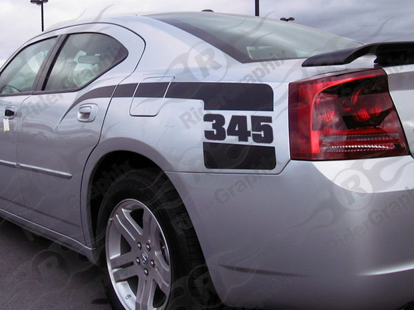 2006 - 2010 Dodge Charger Retro Gen2 Cuda Hockey Stick Stripes