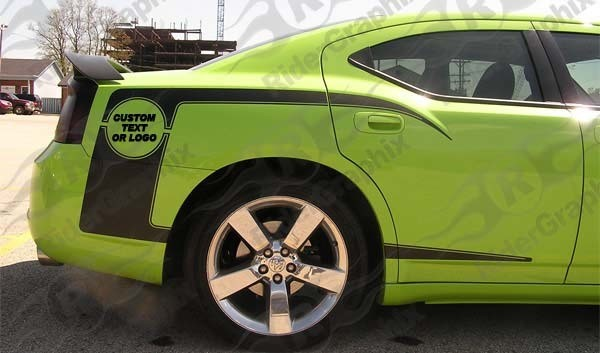 2006 - 2010 Charger 1970 Super Bee inspired Quarter Panel Stripe Kits