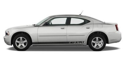 2006 - 2010 Charger Rally Style Rocker Panel Stripe Kits