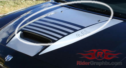 2006 - 2010 Charger SRT Hood Main Decal Kit
