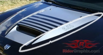2006 - 2010 Charger SRT Hood Side Spear Decal Kit