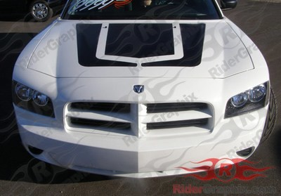 2006 - 2010 Charger OEM Style Hockey Hood Decal Kit