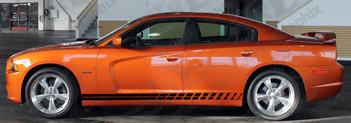 2011-2014 Charger Daytona Style Strobe Rocker Panel Stripe Kits