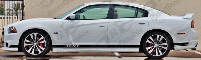 2011 - 2014 Dodge Charger SRT Style Rocker Panel Stripes