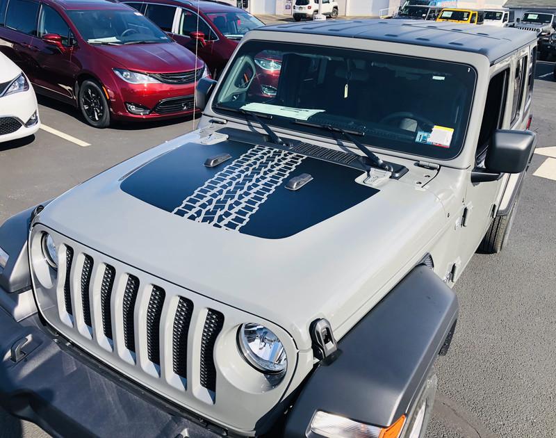 2018 - up Jeep Gladiator JT Wrangler JL JLU Hood Blackout Vinyl Graphics