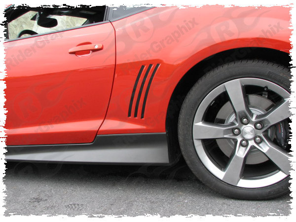 2010 - 2015 Chevrolet Camaro Rear Quarter Panel Side Vent Accent Blackout Decals Style I
