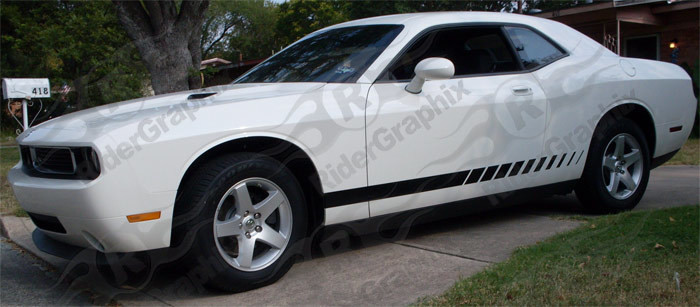 2008 - Up Challenger Strobe Style Rocker Panel Stripe Kits