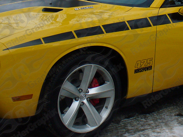 2008 - Up Dodge Challenger 1970 T/A Style Fender Accent Decal Kit