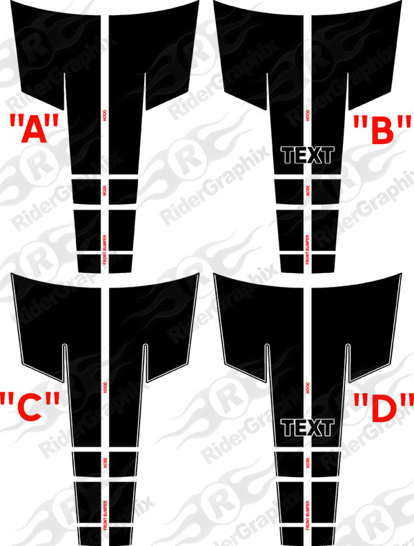 2015 - Up Dodge Challenger 16 piece Rally Stripe Decal Kit
