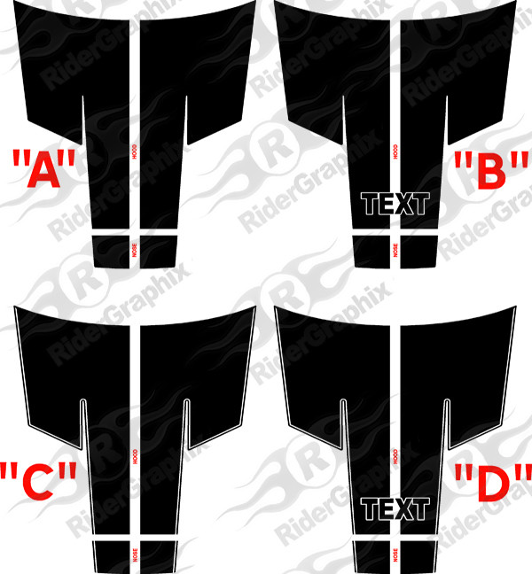 2015 - Up Dodge Challenger 10 piece Rally Stripe Decal Kit