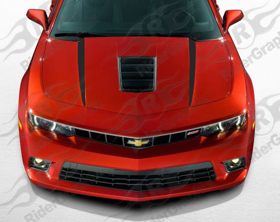 2014 - 2015 Camaro SS / Z/28 Hood Spear Graphics