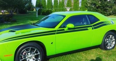 2008 - Up Dodge Challenger 71 RT Style Side Stripes