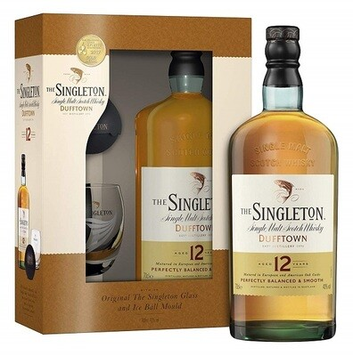 The Singleton of Dufftown '12 Years Old' Single Malt Scotch Whisky (Gift-pack with Glass & Ice Ball Mould)