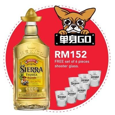 Sierra 'Reposado' Tequila (Free 6 Shooter Glass)
