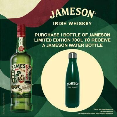 Jameson Irish Whiskey (Limited Edition Btl with Free Jameson Water Bottle)