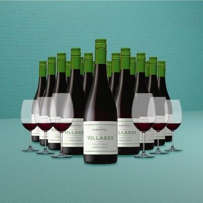 [Free Glasses] De Bortoli 'Villages' Yarra Valley Pinot Noir 18 Bottles Pack