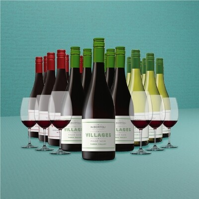 [Free Glasses] De Bortoli 'Villages' 18 Bottles Mixed Case