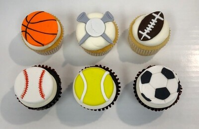 Sports 6 Pack Cupcakes